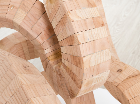 """Detail of """"Standing Continuous Line"""""""