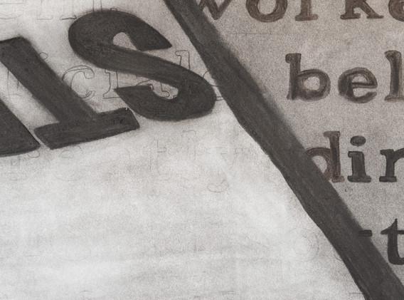 """Detail of """"Strike"""" by Maren Henson"""
