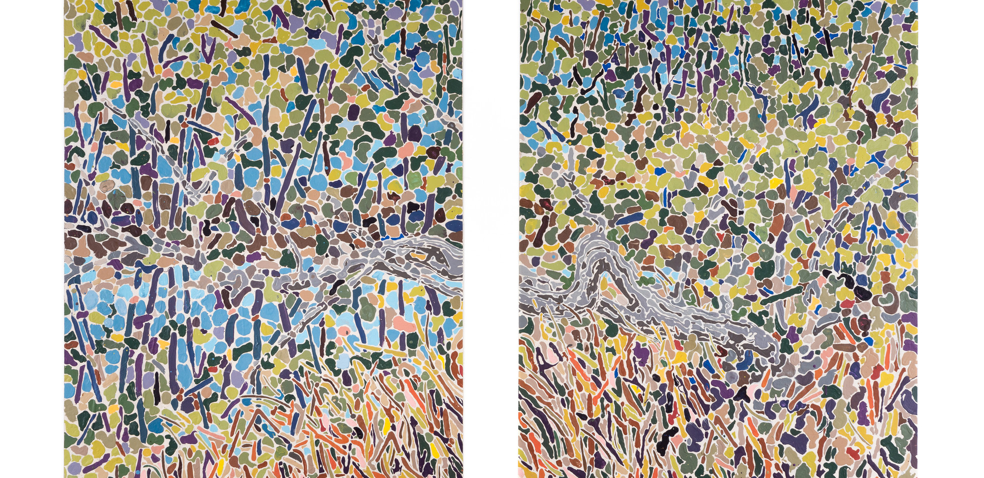 """Diptych with Pond"""