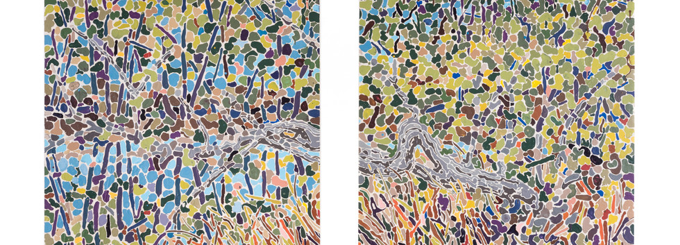 """""""Diptych with Pond"""""""
