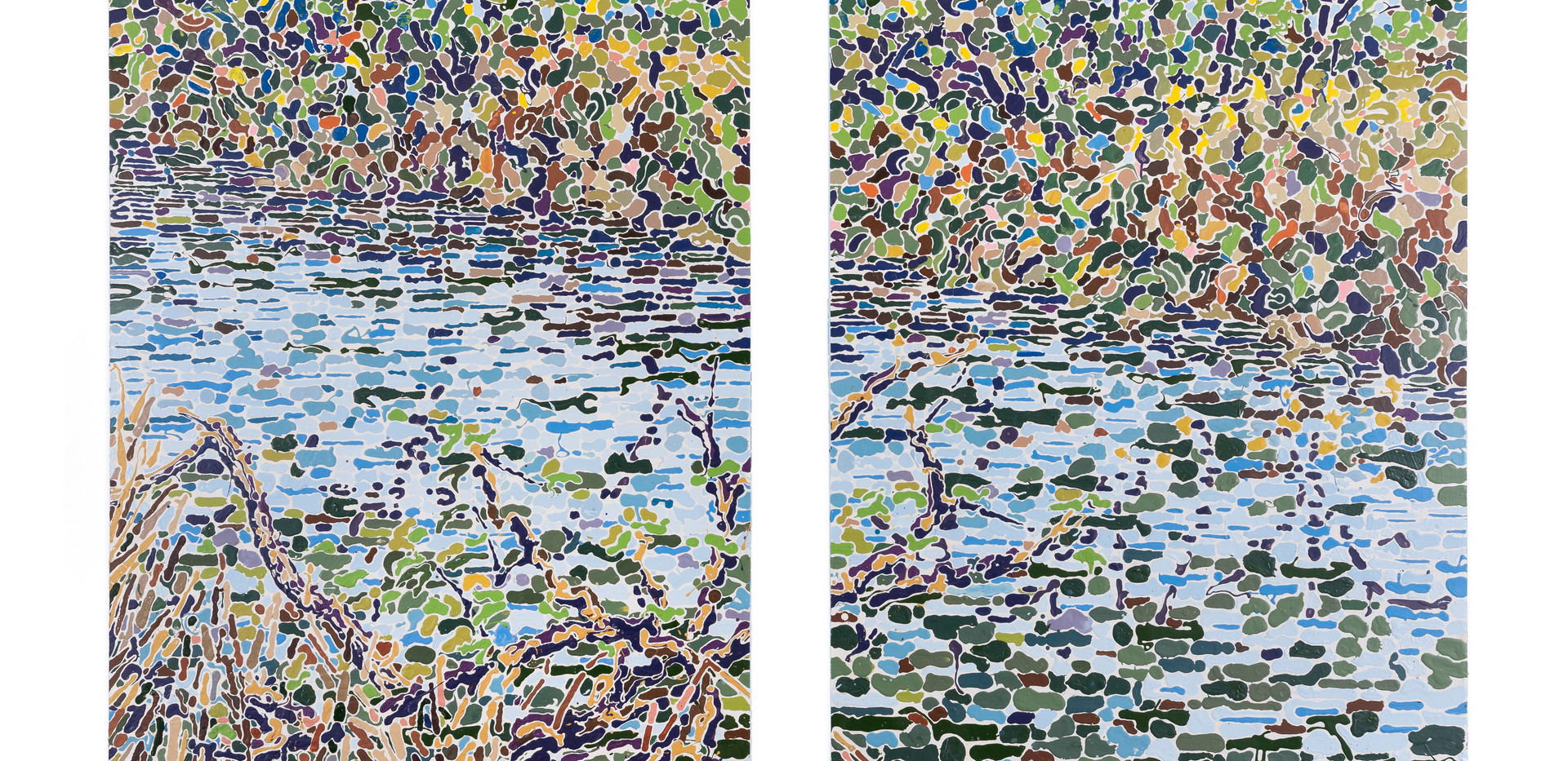"""River Diptych"""