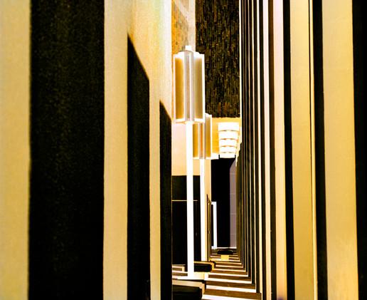 LACMA Columns Abstract Yellow
