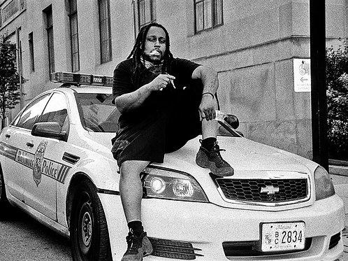 Smoking Cop Car