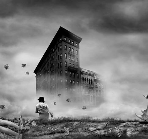 Adrift; Surrealist Photomontage