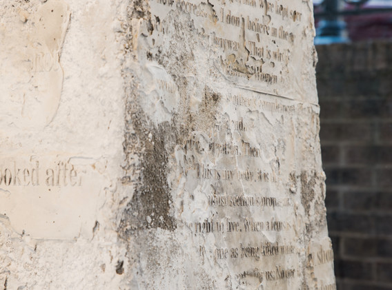 """Kelimeler Kıyafetsiz (:Words Naked/Are Not Enough) – Monument IV"" by Sera Boeno"