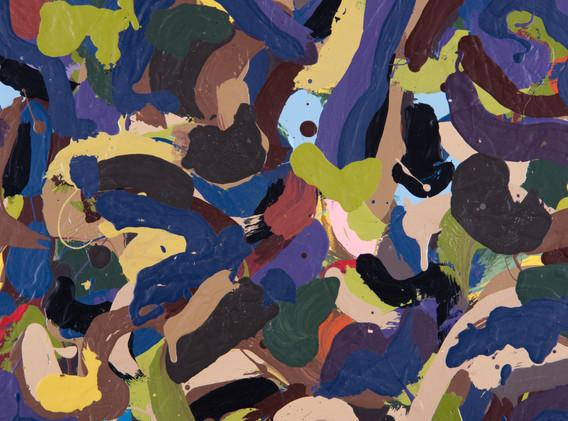 """Detail of """"Dense Forest Landscape"""""""