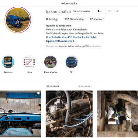Mein neuer Instagram Account @sid.goes.to.kamchatka