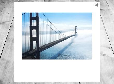 Interactive polaroid camera and photo gallery