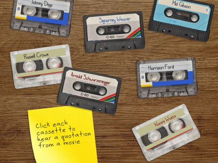 Sentimental soundboard: cassette player and movie quotations