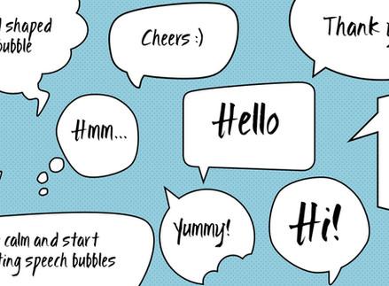 Custom speech/thought bubbles in PowerPoint
