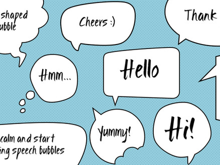 Custom speech/thought bubbles in PowerPoint
