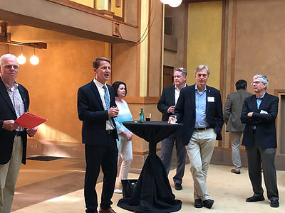 AIA Illinois members at a reception.