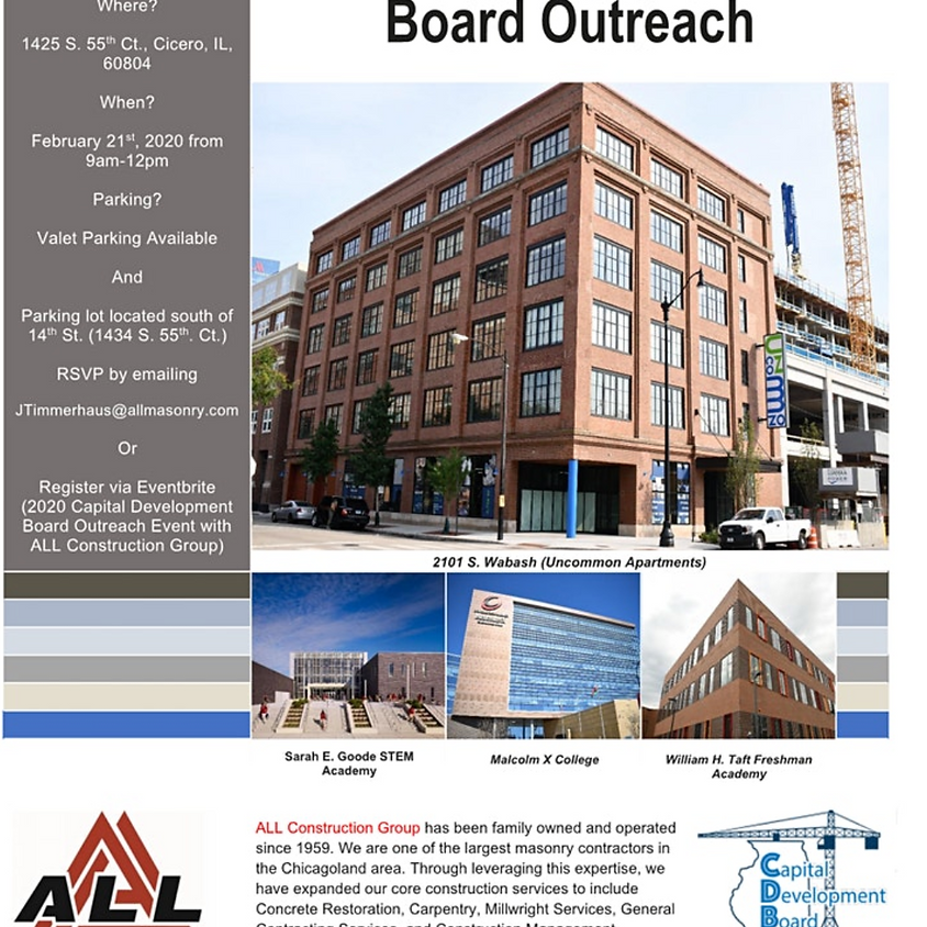 2020 Capital Development Board Outreach Event with ALL Construction Group