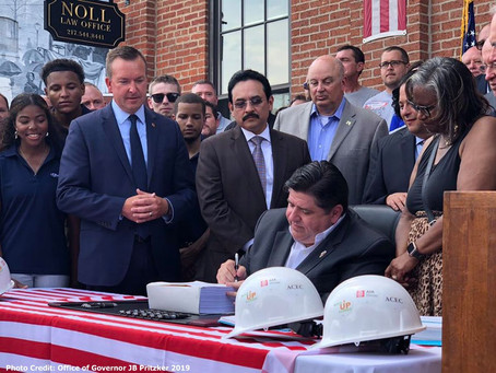 Governor Pritzker travels throughout Illinois to promote the historic capital plan.