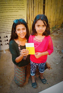 The little girl who knows Desi Cows