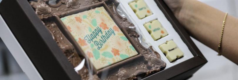 תמונה משוקולד במארז מתנה ליום הולדת