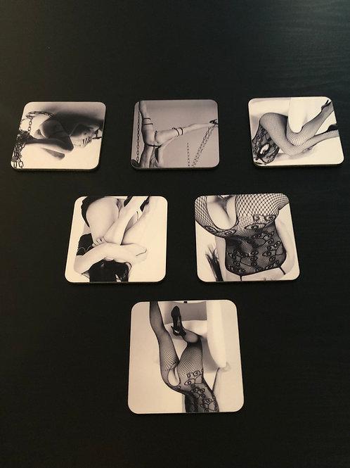 Set de 6 sous-verres Lectra : Série Pretty Woman