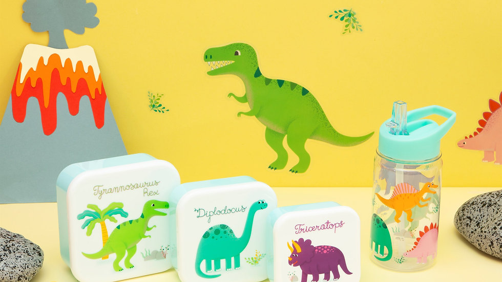 Sass & Belle Roarsome Dinosaurs Lunch Boxes Set of 3