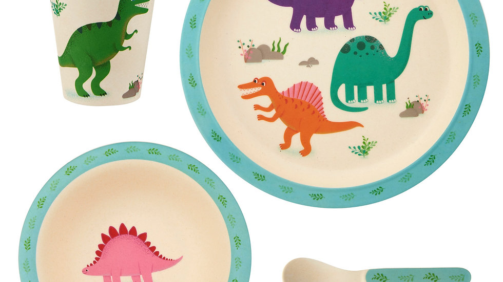 Sass & Belle Roarsome Dinosaurs Bamboo Tableware Set