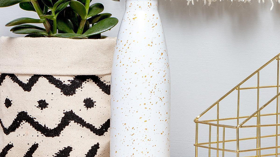 Gold Fleck Insulated Drinks Bottle
