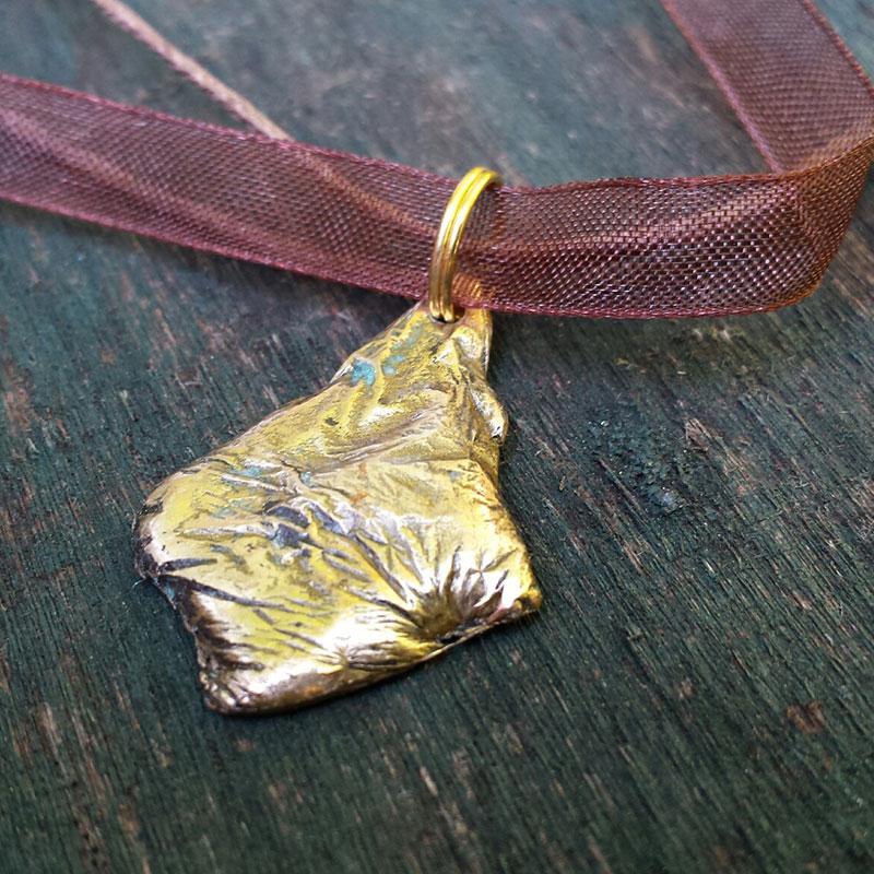 Bronze Pendant - Droplet