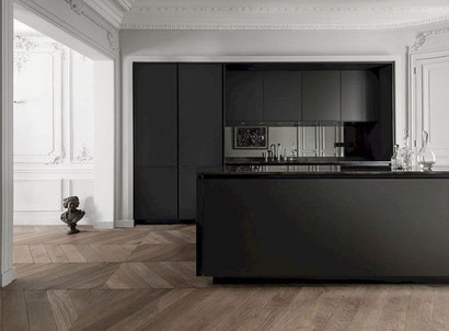Black & Wood Invisible Kitchen