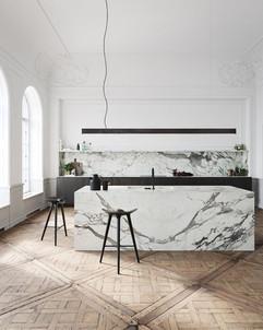 Marble Slab Kitchen