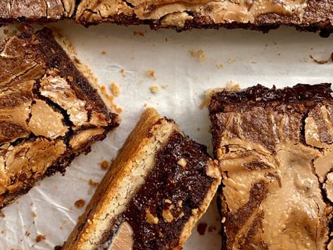 בראוניז שוקולד לבן פקאן של פסח