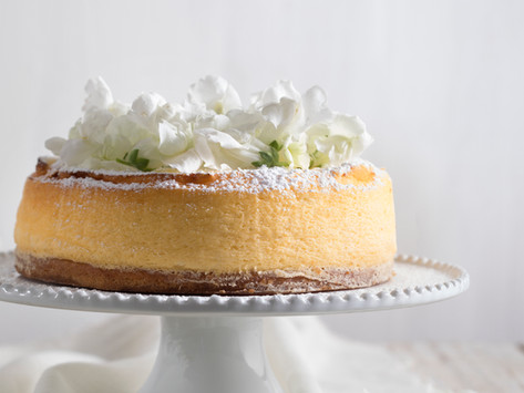 עוגה גבינה אפויה עננים