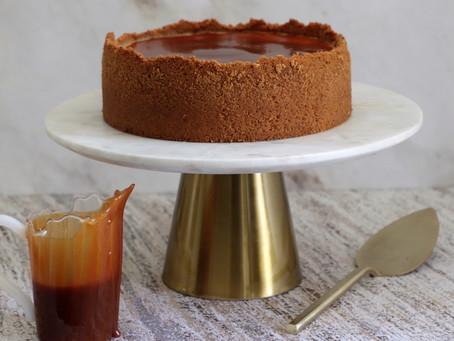 עוגת גבינה קרמל מלוח ופקאן