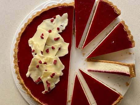 עוגת גבינה ג׳לי תות