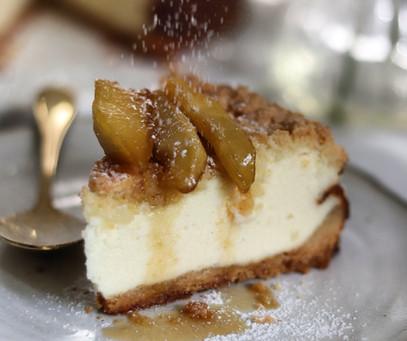 עוגת גבינה תפוחים מקורמלים
