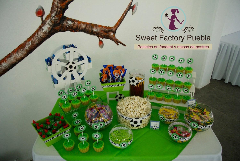 Mesa de dulces futboll