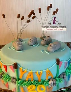 Pastel Hipopótamos