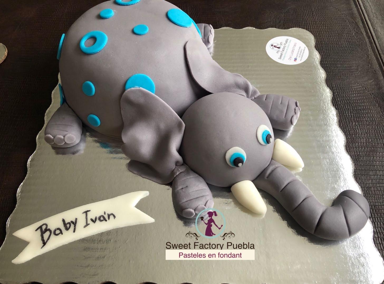 Pastel elefante 2
