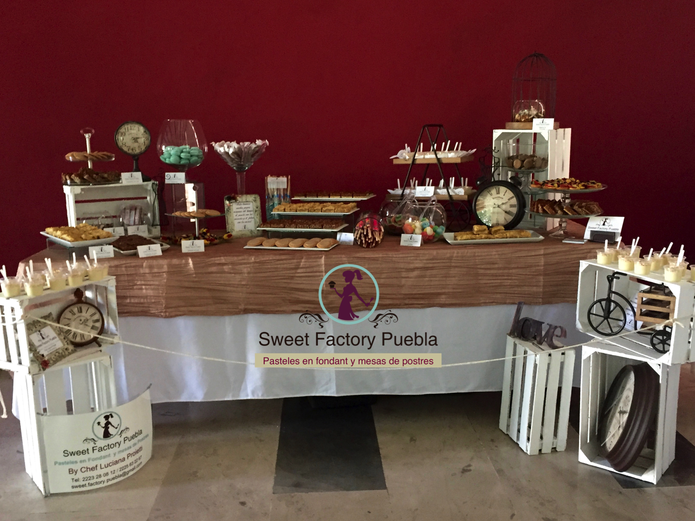 Mesa de postres y dulces