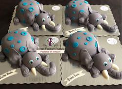 Pastel elefante