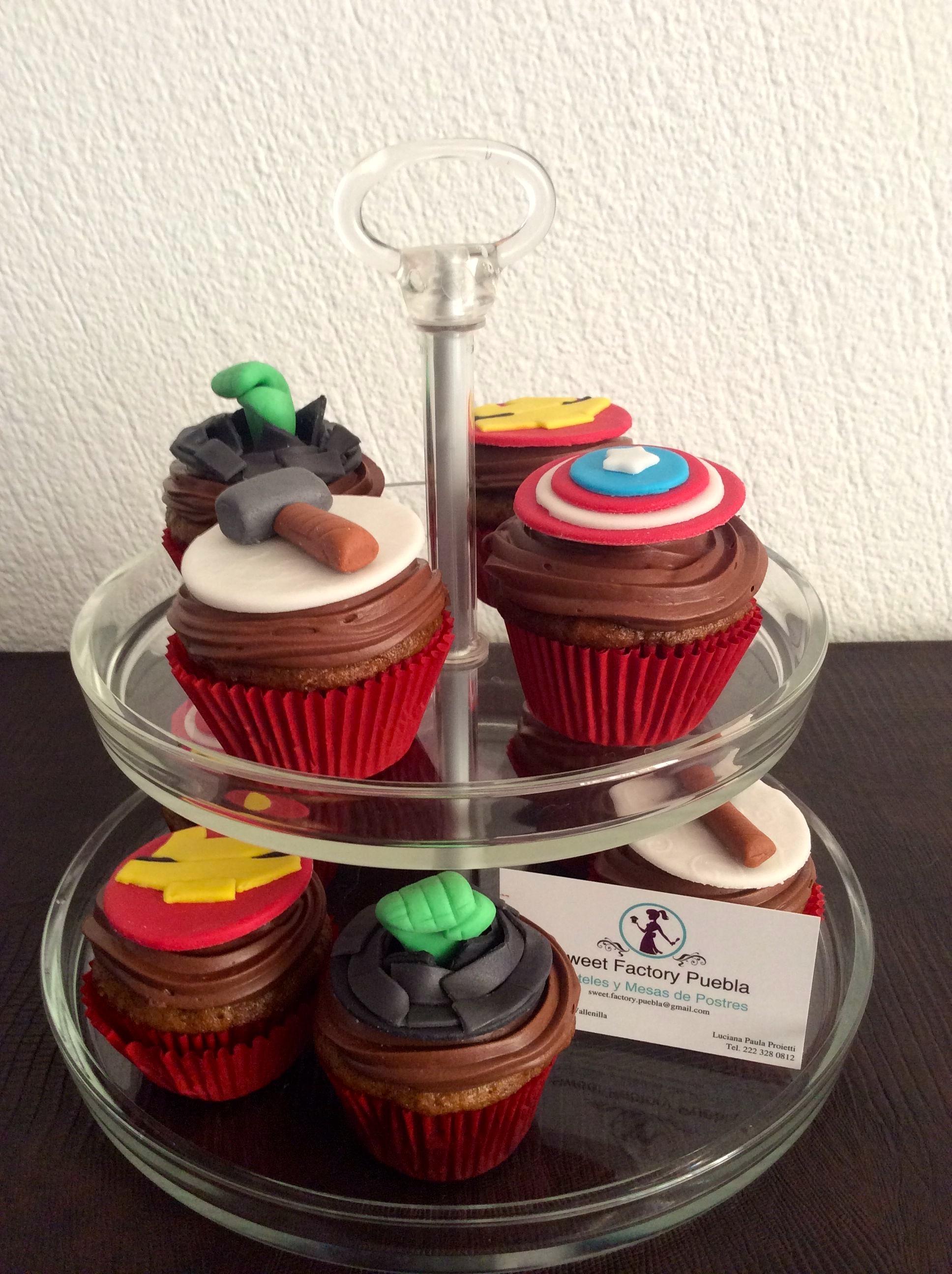 Cupcakes super héroes