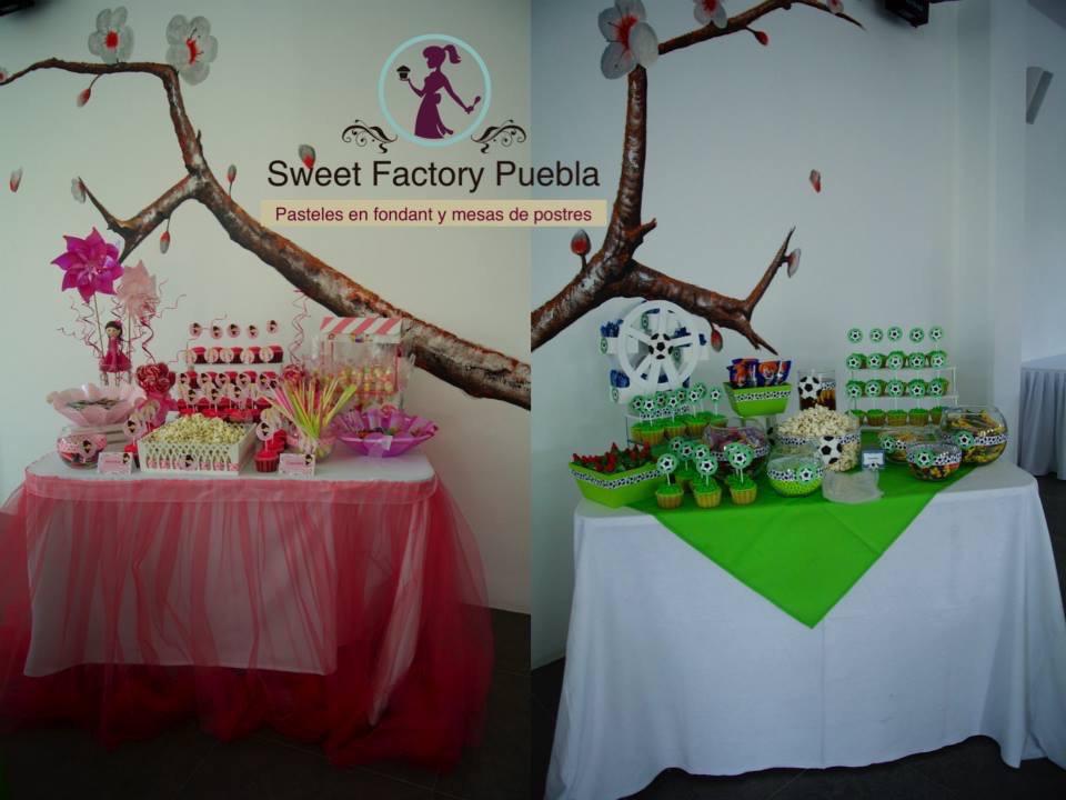 Mesa de dulces bailarina y futboll1