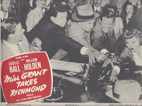 Miss Grant Takes Richmond Lobby Card 1949