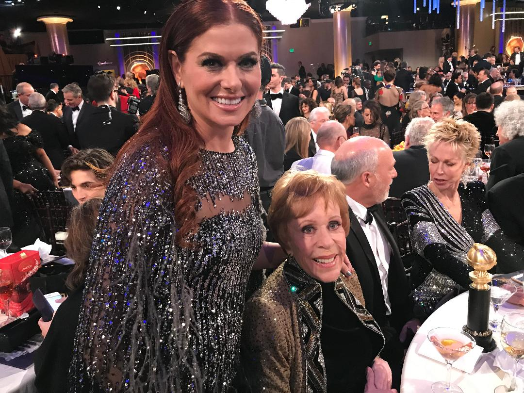 Carol Burnett with Debra Messing 1-6-201