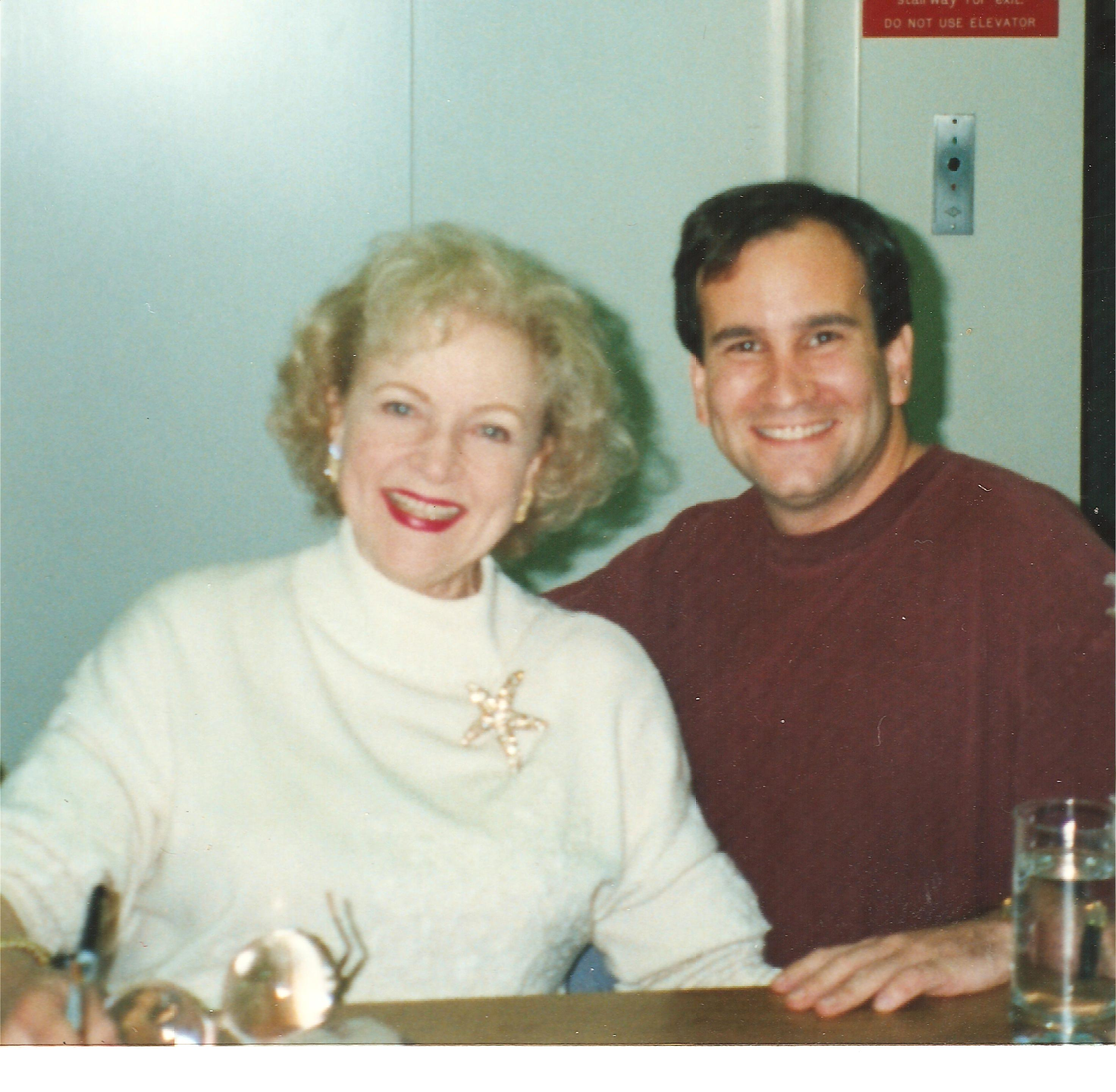 Betty White at book signing