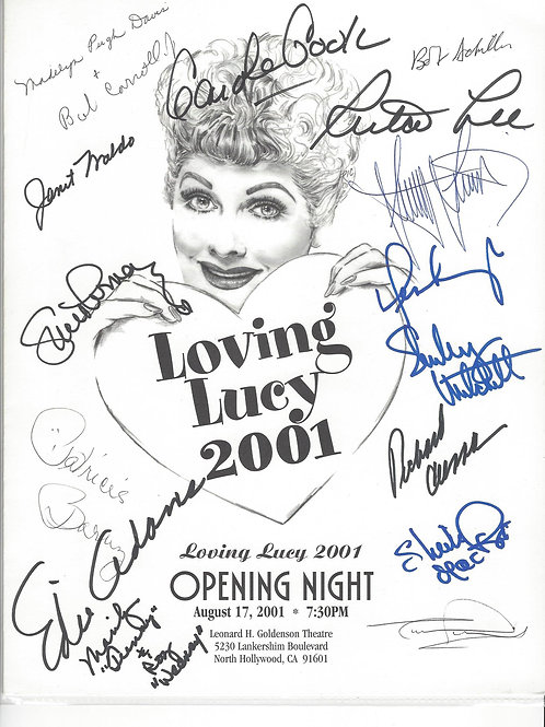 Loving Lucy Program 2001 Signed by 16 +