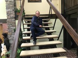 Sitting on stairs Brady Bunch 5-23-2019.