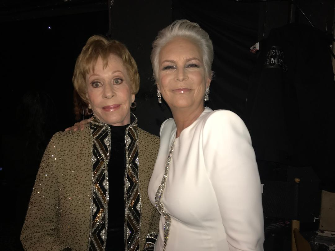 Carol Burnett and Jamie Lee Curtis 1-6-2