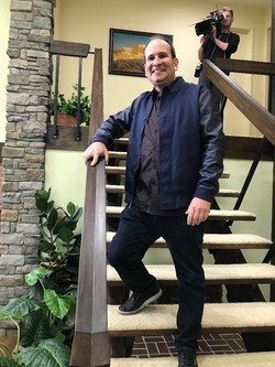 Me standing on Stair case Brady Bunch 5-