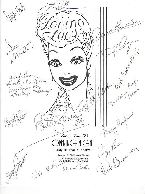 Loving Lucy Program 1998 Signed by 16+