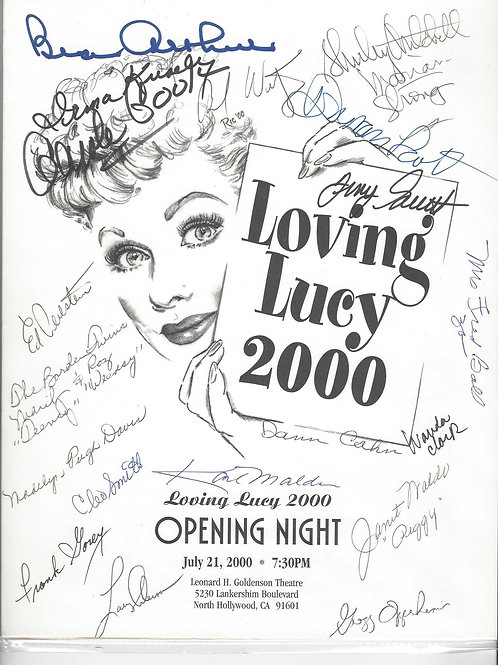 Loving Lucy Program 2000 signed by 20+