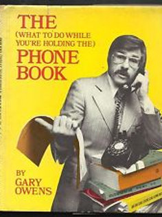 Gary Owens SIGNED book THe PHONE BOOK...