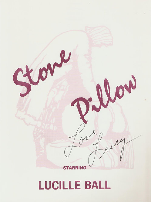 Stone Pillow SIGNED BY LUCY Program